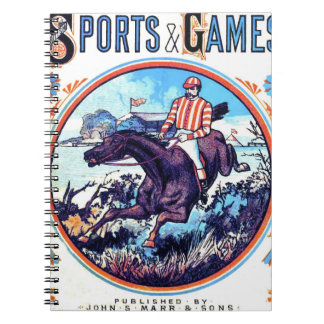 Sports and Games Hunting Vintage Book Cover Notebooks