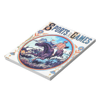 Sports and Games Hunting Vintage Book Cover Notepad