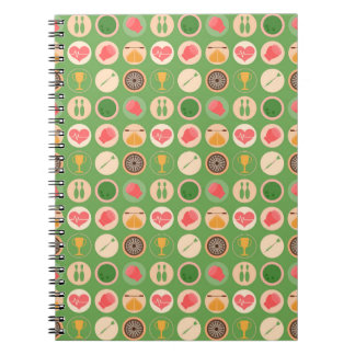 Sports and Games Pattern Spiral Notebook