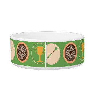 Sports and Games Pattern Pet Food Bowls
