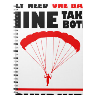 sports and skydive, Mine takes both Spiral Notebook