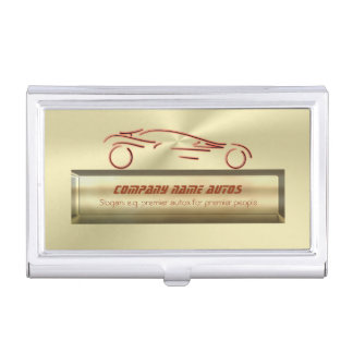 Sports Auto on gold bar effect - auto sales Business Card Case