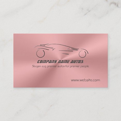Sports Auto on Rose Pink Metallic Steel Effect