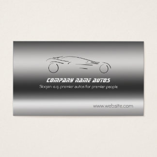 Sports Auto Sales and Repairs on metallic-look Business Card