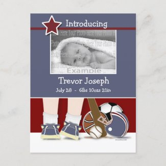 Sports Baby Announcement Template