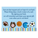 Sports Baby Shower Book Request Cards Large Business Cards (Pack Of 100)