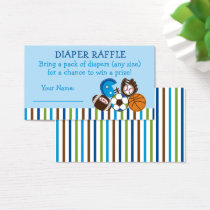 Sports Baby Shower Diaper Raffle Tickets