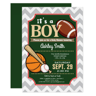 Basketball Baby Shower Invitations Announcements Zazzle