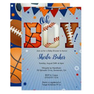 Sports baby shower invitations zazzle sports baby shower invitation sports all star filmwisefo