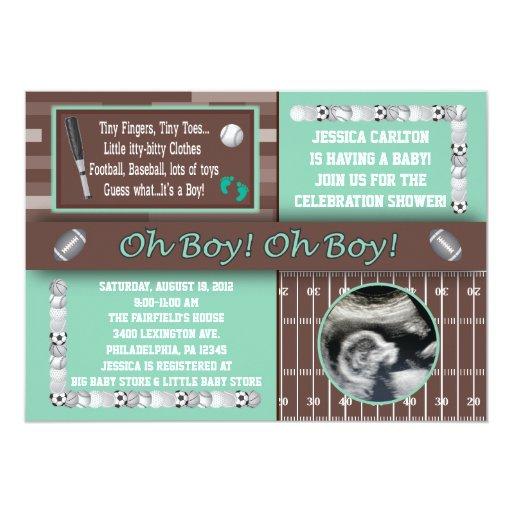 baby invitations baseball baby announcements invites zazzle