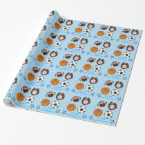 Sports Baby Shower Wrapping Paper