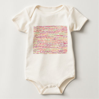 Sports Background Baby Bodysuit