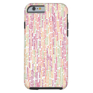 Sports Background Tough iPhone 6 Case