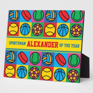 Sports Ball Checkerboard Plaque