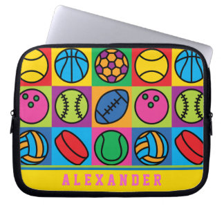 Sports Ball Icons Computer Sleeve