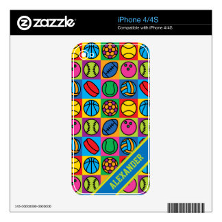 Sports Ball Icons iPhone 4S Decal