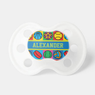 Sports Ball Icons Pacifier