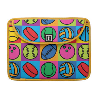 Sports Ball Icons Sleeve For MacBooks