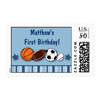 Sports Balls All Star Custom Postage Stamps