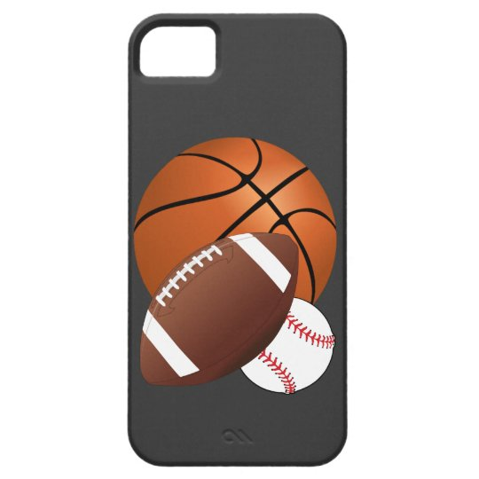 Sports Balls Basketball Football and Baseball iPhone SE/5/5s Case