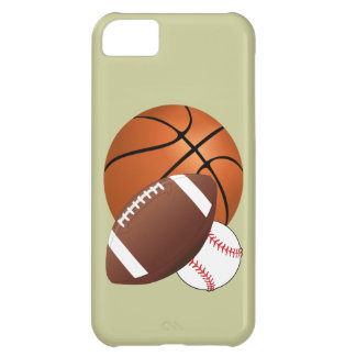 Sports Balls Basketball Football and Baseball No.2 Cover For iPhone 5C