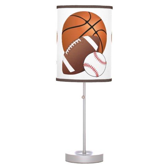 Sports Balls Basketball Football Baseball Fan Table Lamp | Zazzle.com