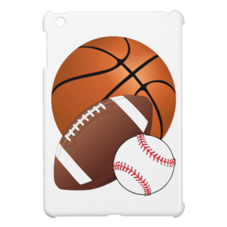 Sports Balls Basketball Football Baseball iPad Mini Case