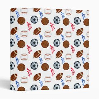 Sports Balls Vinyl Binders