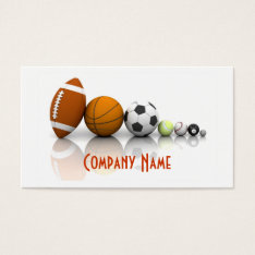 Sports / Balls Business Card at Zazzle