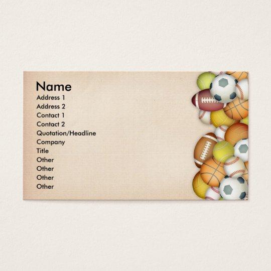 Sports / Balls Business Card