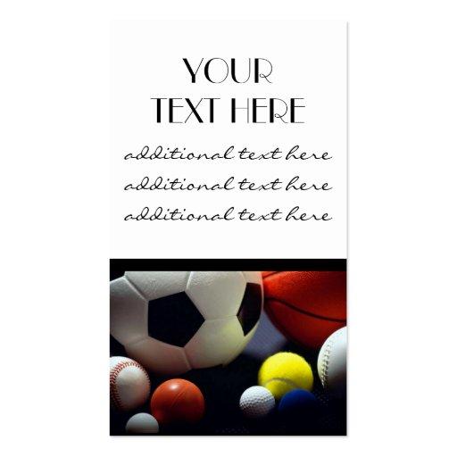 Sports Balls Business Card