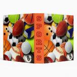 Sports Balls Collage Vinyl Binders