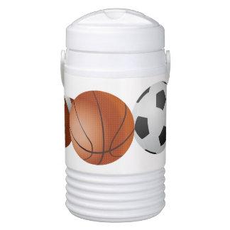 Sports Balls Igloo Cooler. Beverage Cooler