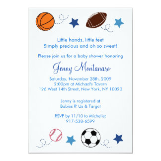 Sports Balls MVP All Star Baby Shower Invitation