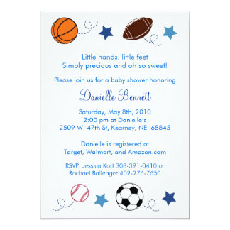 Sports Balls MVP All Star Baby Shower Invitations