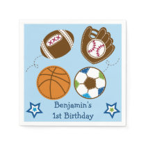 Sports Balls Personalized Napkins