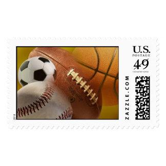sports balls postage stamp