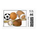 sports balls stamp
