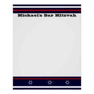 Sports Bar Mitzvah Sign In Board - NY Poster