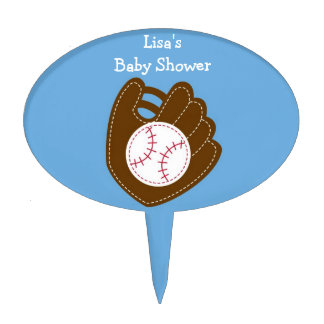 Sports Baseball Baby Shower Cake Topper