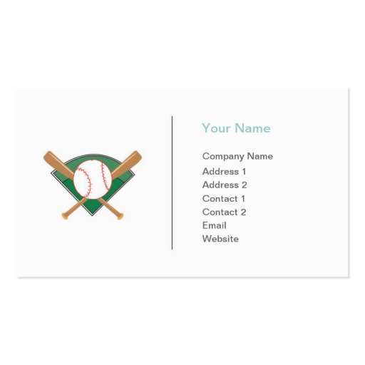 Sports Baseball Business Business Card Templates