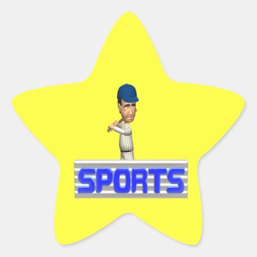 Sports Baseball Star Sticker