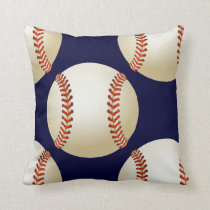 sports baseball throw pillow