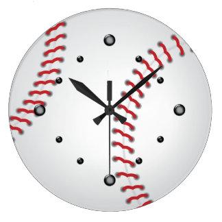 Sports Baseball Wall Clock