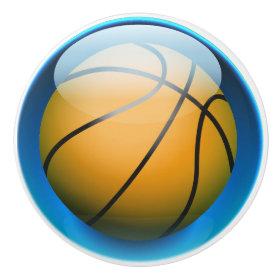 Sports Basketball Drawer Knobs Ceramic Knob