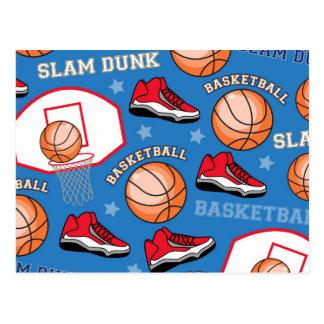 SPORTS Basketball Fun Athlete Colorful Pattern Postcard