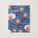 SPORTS Basketball Fun Athlete Colorful Pattern Puzzle