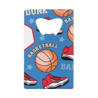 SPORTS Basketball Slam Dunk Fun Athlete Pattern Credit Card Bottle Opener