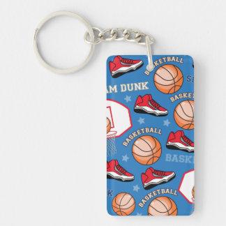 SPORTS Basketball Slam Dunk Fun Athlete Pattern Keychain