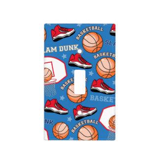 SPORTS Basketball Slam Dunk Fun Athlete Pattern Light Switch Cover